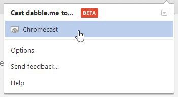 Google Cast select a Chromecast