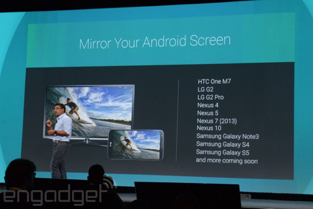 Android screen mirror to chromecast