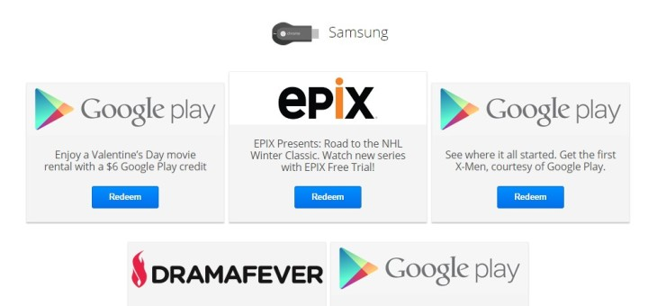 Chromecast Free Offers