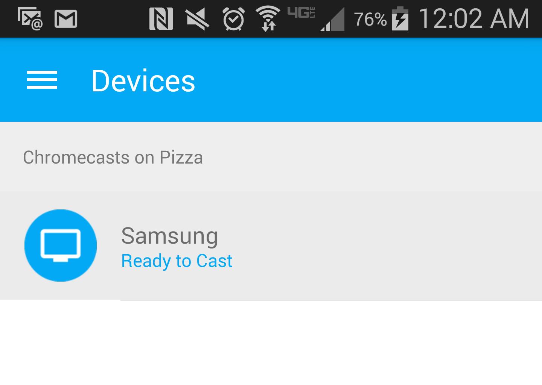 Select Chromecast